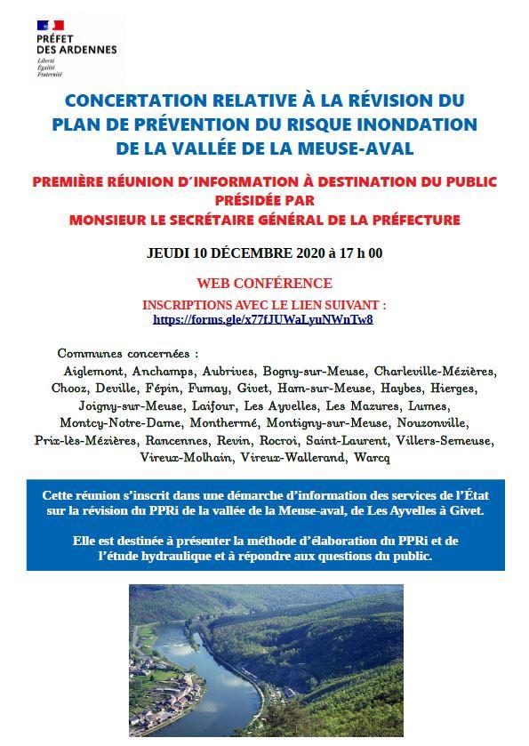 Réunion publique : Plan de Prévention du Risque Inondation de la Vallée de la Meuse-Aval