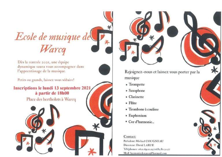 Read more about the article Ecole de musique – inscriptions